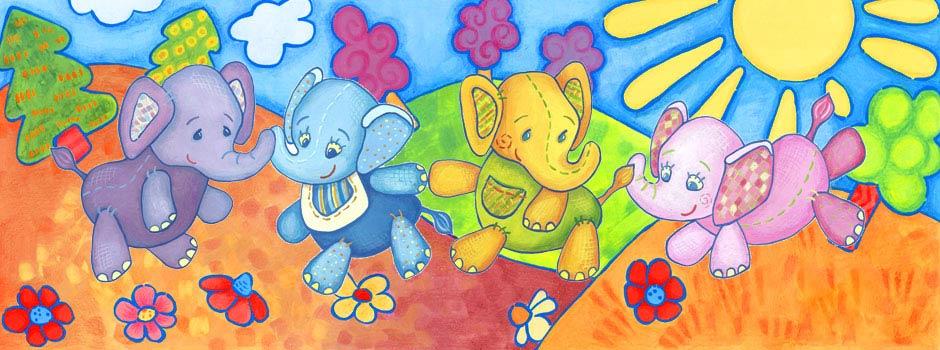 Cztery słonie piosenka dla dziecka